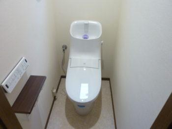 トイレリフォーム LIXILシャワートイレ一体型便器EX